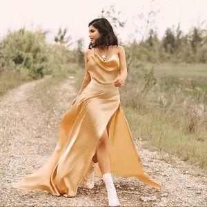 Dresses & Skirts - Yellow Silk Dress